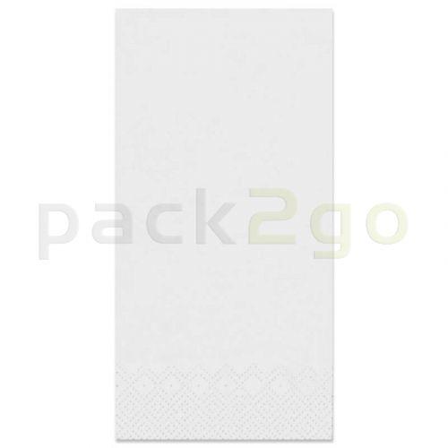 Tissue-Servietten GOURMET, 40x40 1/8 Buchfalz, 2-lagig - weiß - Zellstoffservietten