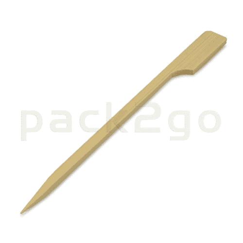 Bambusspieße mit Fähnchen - Foodspieße aus Bambus, 120mm