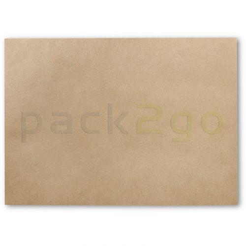 Einschlagpapier aus Pergament-Ersatz, ungebleicht, braun, 1/8 Bogen - 25x37,5cm