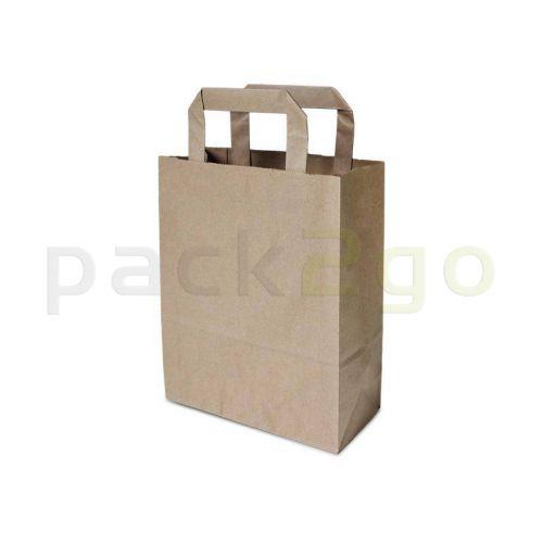 Papiertragetaschen 18+8x22cm - Kraft braun, umweltfreundlich