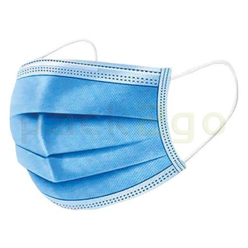 Medizinische Mund- und Nasenmasken aus Zellstoff (Einweg), 3-lagig blau