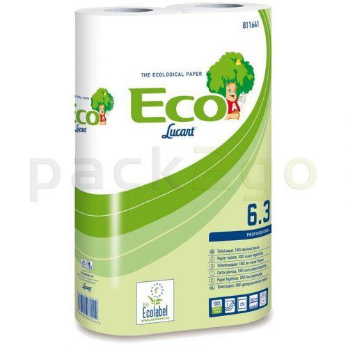 Toilettenpapier, Kleinrolle für Haushalt - Tissue, 3-lagig, 250 Blatt T4 - weiß