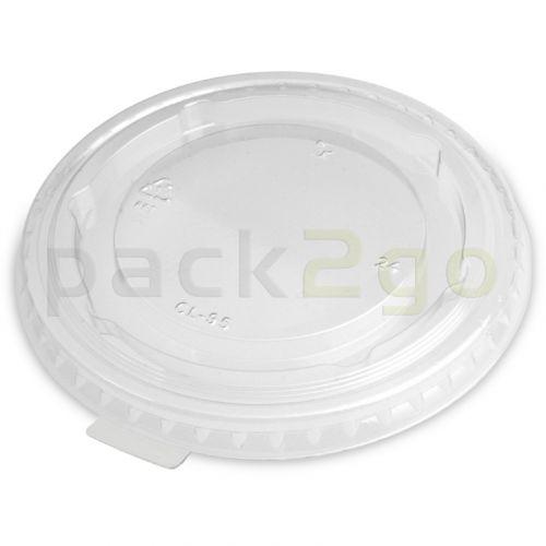 deksel voor clear cups, plat, gesloten met een lipje - 95 mm