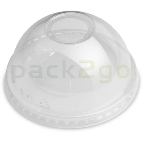 bolle deksel voor clear cups (smoothiebekers), bolvormig, met opening - 95 mm