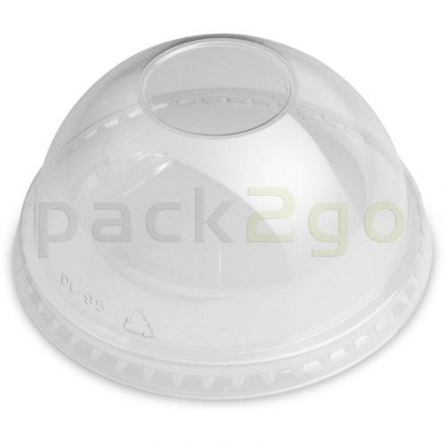 Bolvomige deksel voor clear cups (smoothiebekers), gewelfd, gesloten zonder opening - 96mm