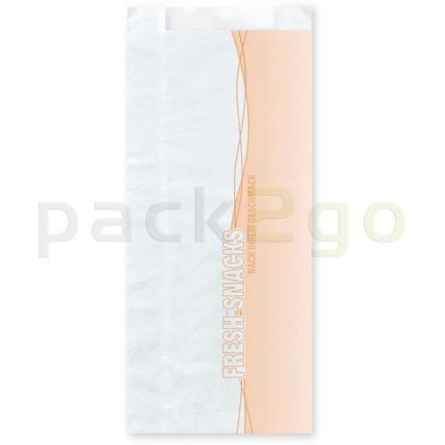 Sichtstreifenbeutel / Papierfaltenbeutel mit Sichtfenster, Kraft