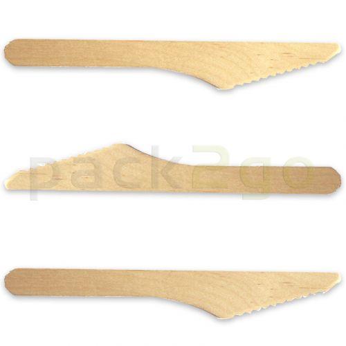 Holzmesser, Premium - 16,5cm, umweltfreundliches Menümesser, Holzbesteck für modernes To Go / Take Away
