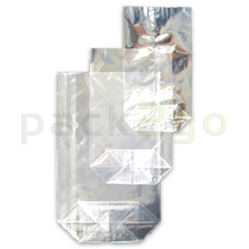 OPP-Bodenbeutel (Kreuzbodenbeutel) aus Polypropylen, 120x225mm