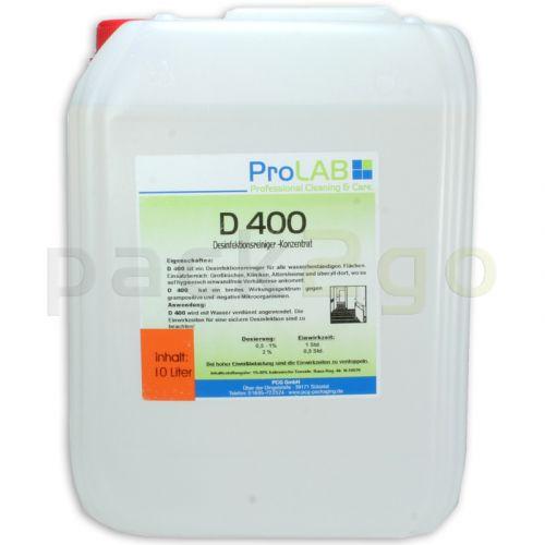 D-400 Profi-Flächendesinfektion 5L - z.B. für Küchen, Konzentrat HACCP (ProLAB)