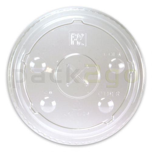 Deckel für Clear Cups, flach, Kreuzschlitz für Strohhalm - 9oz hoch 78mm