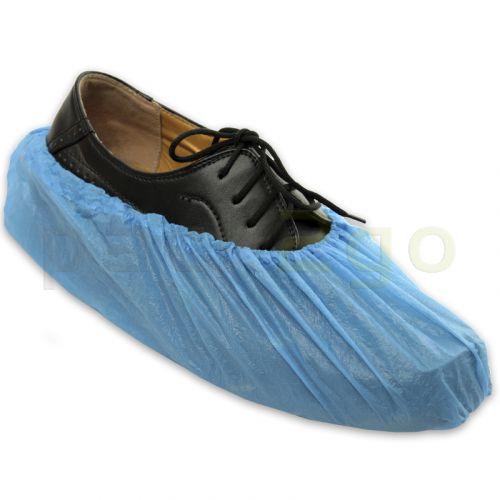 Einwegschuhe, Einweg-Überschuhe blau, mit Gummizug