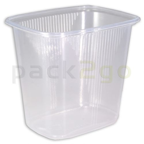 Feinkostbecher, Verpackungsbecher, PP, transparent, eckig - 500ml