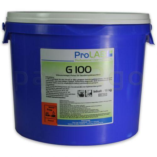 G-100 Geschirrspülmittel - Profi Intensiv-Pulver, desinfizierend (ProLAB), 10kg Eimer