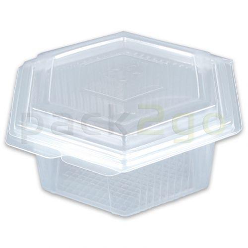 Haushaltsboxen sechseckig mit Deckel - 500ml