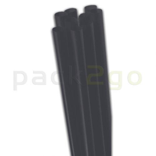 Jumbo-Trinkhalme - dicker Strohhalm Schwarz, starr - 25cm, 8mm
