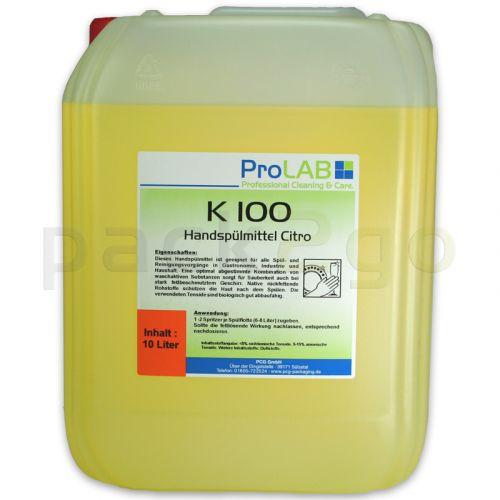 K-100 Handspülmittel Profi mit Citruskraft (ProLAB), 10L Kanister