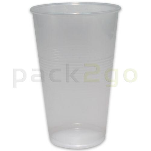 Plastikbecher, klar, PP Kunststoff-Trinkbecher (Einwegbecher für Kaltgetränke, transparent) - 0,2l