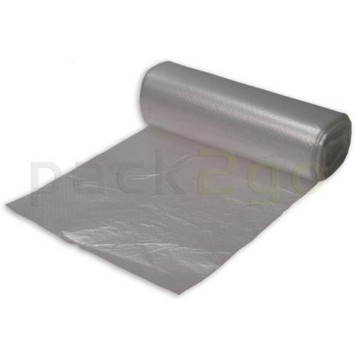 Müllbeutel HDPE (Niederdruck) ca. 75l, reißfest T10 - weiß transparent