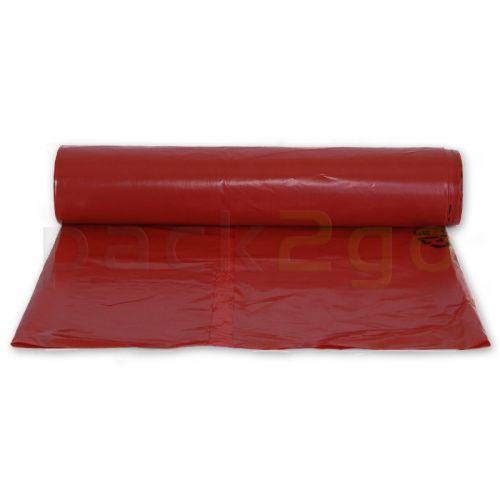 Müllsäcke LDPE 120l - 700x1100mm - stark T60 - rot