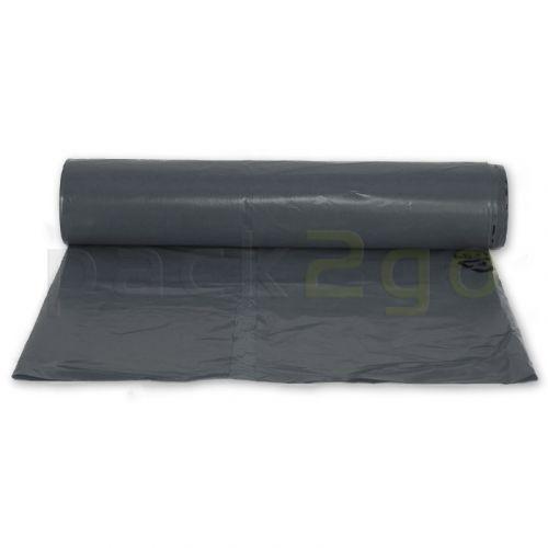 Müllsäcke LDPE 150l, 500+300x1100mm - sehr reißfest T65 - grau