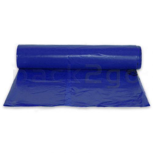 Vuilniszakken LDPE 200l - 700+200x1100mm - extra sterk T80 - blauw