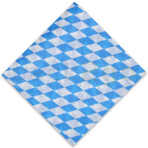 Papierservietten - 33x33cm, 1/4 Falz 1-lagig, blau-weiße Bayern-Servietten