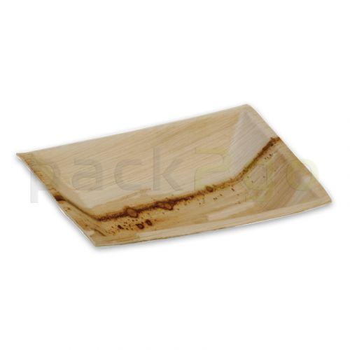 Partybord palmblad (composteerbaar palmblad servies) - 12 x 17 cm rechthoekig
