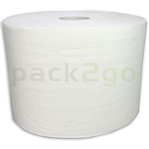 Putzrollen Maxi 2-lagig weiß 24x35cm, Putztuchrolle - 510m