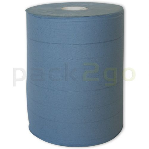 Poetsrollen Profi blauw 380 m, poetsdoekrol 2-laags 37 x 38 cm