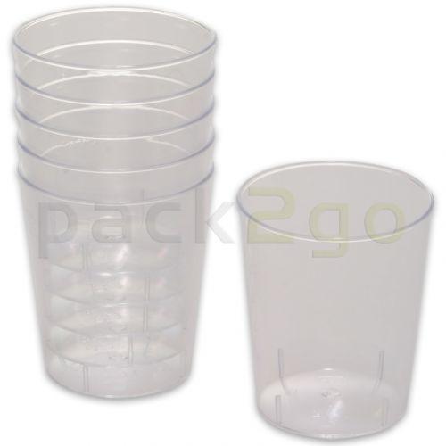 Wegwerp-borrelglazen 2 cl, plastic bekers doorzichtig voor shots & party-drinks