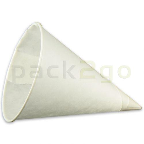 Puntbekers / papieren kegels (cones), wit - 10 oz (250ml)