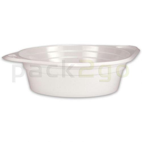 Soepkommen, wegwerp-soepkommen, plastic (PP), rond, wit - 500 ml