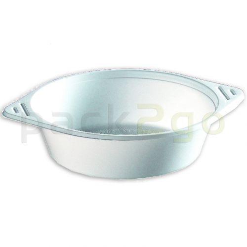 Soepkommen, wegwerp-soepkommen, plastic (PP), rond, wit - 750 ml