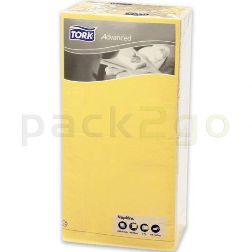 Tork Advanced Tissue-Servietten,40x40 1/4,3-lagig - gelb - Zellstoffservietten farbige