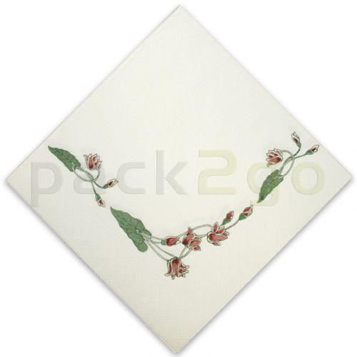 Tissue-Servietten, 40x40 1/4,3-lagig, chinesisches Lotus-Motiv