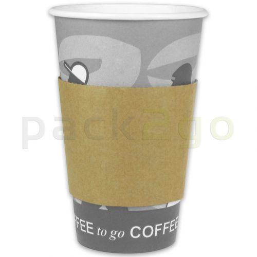 Hittebescherming voor koffiebekers 12/16/20oz, bekermanchetten karton papier (Java Jacket)