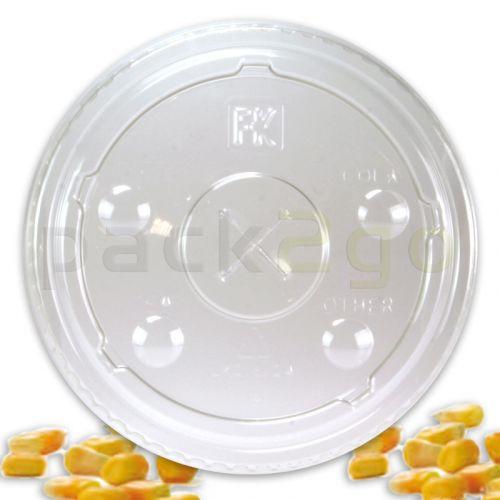 Rietjesdeksels, plat voor composteerbare smoothiebekers - PLA biologisch afbreekbaar 12/20oz
