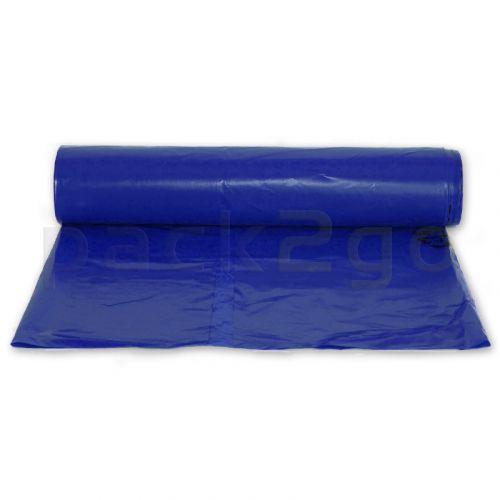 Müllsäcke LDPE 250l - 800+200x1150mm, extrastark T80 - blau