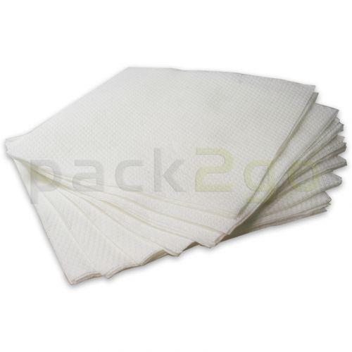 Papieren servetten 33x33 cm 1-laags, 1/4 vouw wit, Servetten met reliëf ECO TOP