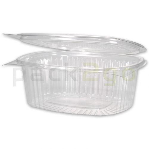 Salatschale oval - PET mit Deckel - 250ml