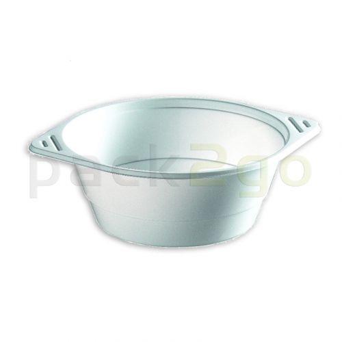 Soepkommen, wegwerp-soepkommen, plastic (PP), rond, wit - 250 ml