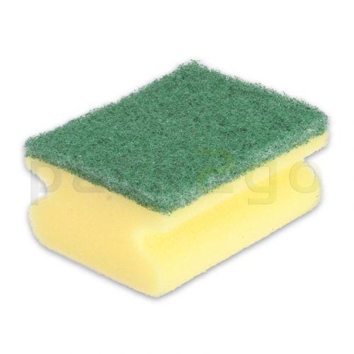 Scheuerschwamm, Topfreiniger mit Griff, gelb-grün - klein