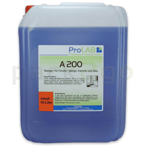A-200 Profi-Glasreiniger / Fensterreiniger (ProLAB), 10L-Kanister