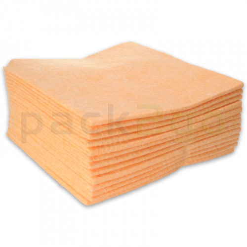 Allzwecktuch-Vlies, 38x38cm Vliestuch, Universal-Reinigungstuch - orange (mit Farbcodierung)