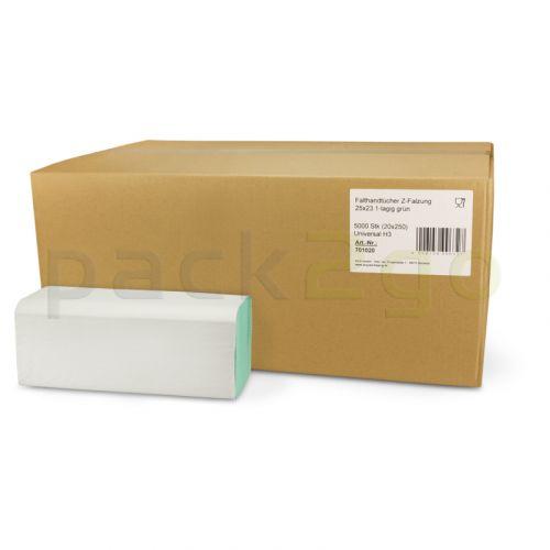 papieren handdoeken, zigzag, 1-laags (z-vouw handdoekpapier)