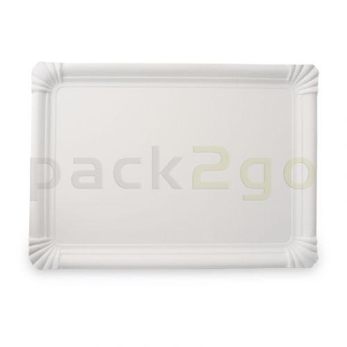 Pappteller eckig - 16x20cm TOPKRAFT, papierbeschichtet, Frischfaser