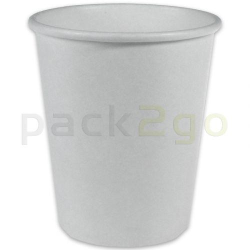 Kaffeebecher, Coffee to go Becher, Heißgetränke-Pappbecher weiß - 8oz, 200ml