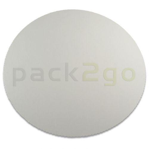 Tortenscheiben - Ø 28cm, weiße Tortenunterlage für runde Torten, gezackter Rand