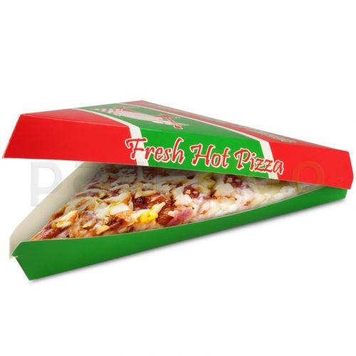 Pizzakarton mit Deckel für dreieckige Pizzastücke (US Pizza Slice Box)
