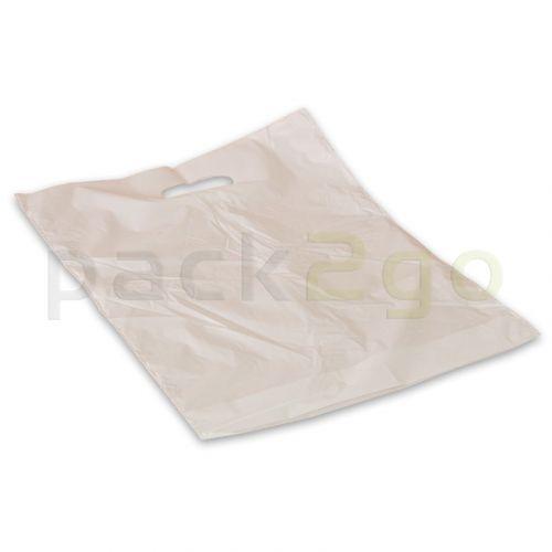 Draagtassen met uitgestanste handgreep - 25 x 35 + 3cm (LDPE)